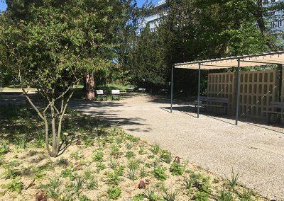 Bepflanzung im Cramer Klett Park